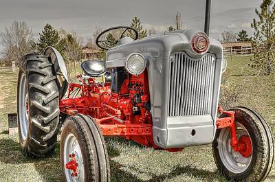 Ford Tractor Art Print by Peter SPAGNUOLO