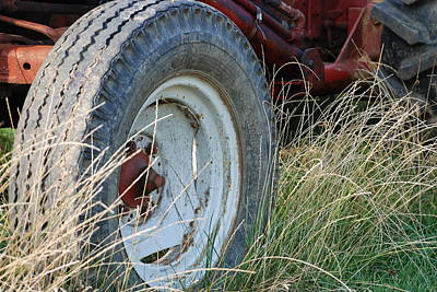 Ford Tractor Tire Art Print by Jennifer Ancker