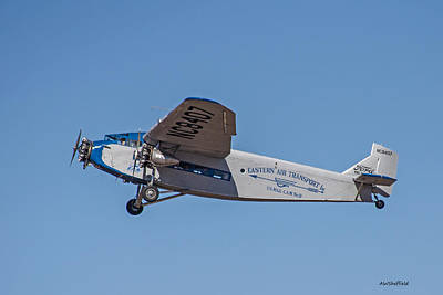 Photograph - Ford Tri-motor In Flight by Allen Sheffield
