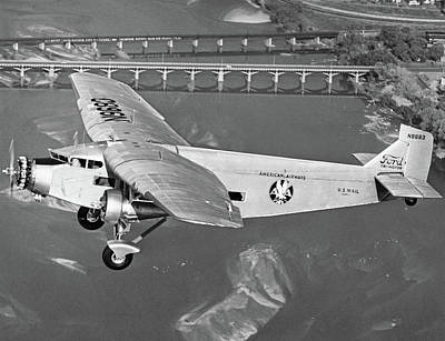 Ford Trimotor Photograph - Ford Trimotor Plane, 1928 by Granger