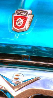 Jerry Sodorff Royalty-Free and Rights-Managed Images - Ford V8 14803 by Jerry Sodorff