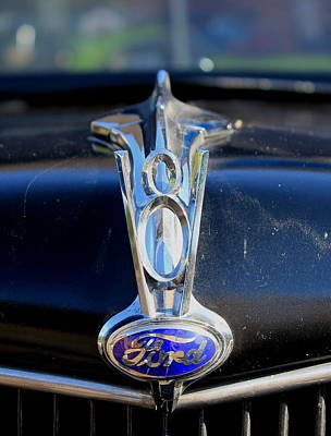 Photograph - Ford V8 by Trent Mallett