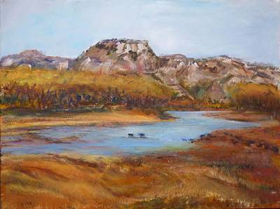 Painting - The Little Missouri by Helen Campbell