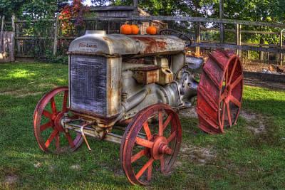 Farm Scenes Photograph - Fordson Tractor by Joann Vitali