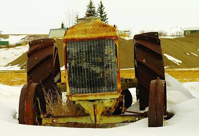 Birds Rights Managed Images - Fordson Tractor Plentywood Montana Royalty-Free Image by Jeff Swan