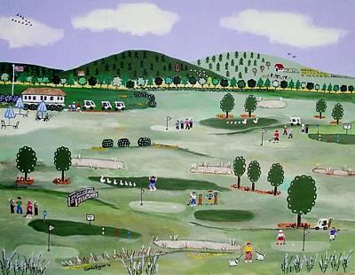 Dorset Vermont Golf Course Print by Sandie Keyser