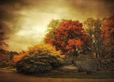 Autumn Foliage Photograph - Foreboding by Jessica Jenney