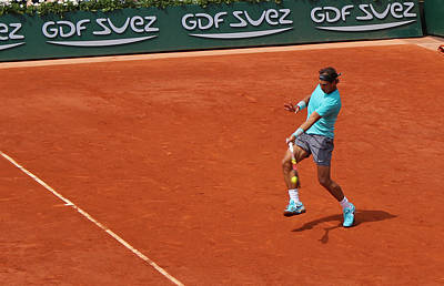 Rafa Photograph - Rafael Nadal's Forehand Impact by Alexi Hoeft