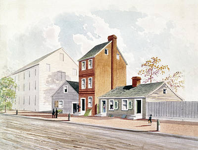 Philadelphia Street Drawing - Foreign Affairs, 1783 by Granger
