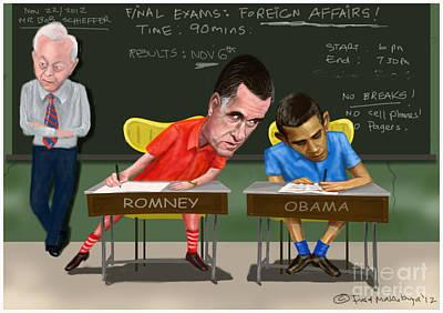 Foreign Affairs Debate Art Print by Fred Makubuya