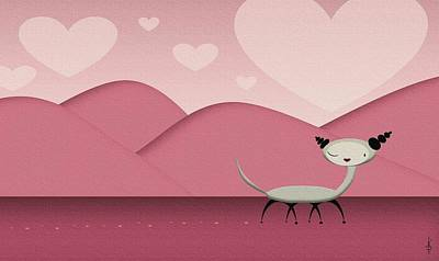 Foreign Love Art Print by Kate Paulos