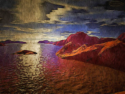 Foreign Terrage Landscape Art Print by Mario Carini