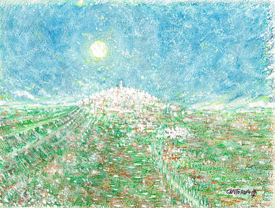 Mixed Media - Forenza - Vista Campagna by Giovanni Caputo