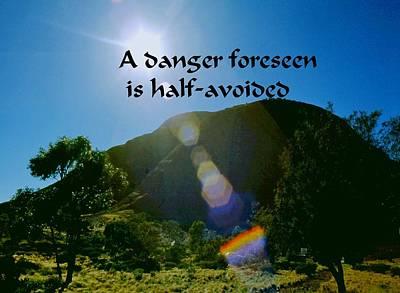 Photograph - Foreseen Danger by Gary Wonning