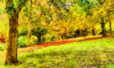 Greek Painting - Forest 14 by George Rossidis