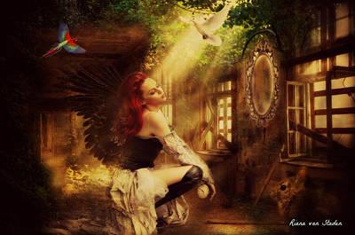 Forest Angel  Art Print