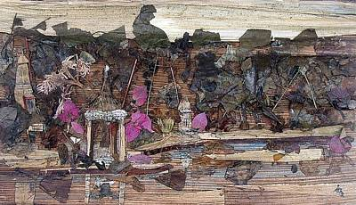 Temple Mixed Media - Forest Behind Temples  by Basant Soni