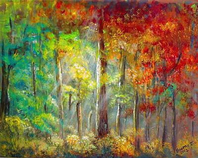 Painting - Forest by Bozena Zajaczkowska