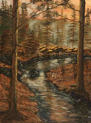Babbling Brook Painting - Forest Brook by Michael Brumbeloe