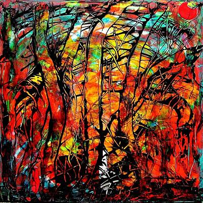 Art Print featuring the painting Forest by Carolyn Repka