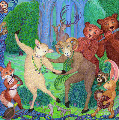 Reverie Drawing - Forest Dance by Debra A Hitchcock