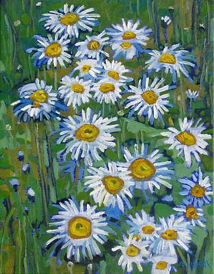 Ipap Painting - Forest Edge Daisies by Phil Chadwick