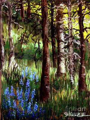 Impressionist Landscapes - Forest Evening Glow by Carol Kovalchuk