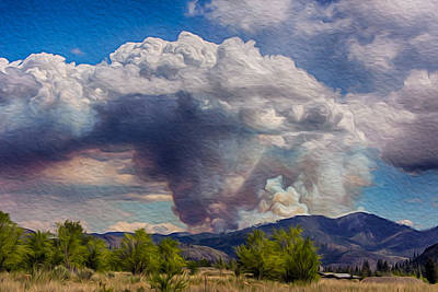 Forest Fire South Of Twisp Art Print