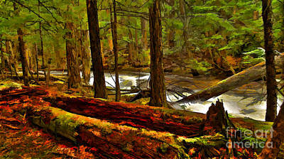Digital Art - Forest Floor by Sam Rosen