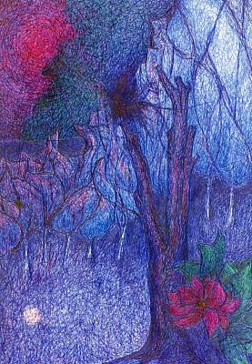 Primitive Drawing - Forest Flower by Wojtek Kowalski