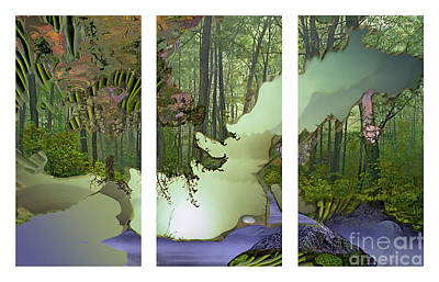Forest Fog Art Print by Ursula Freer