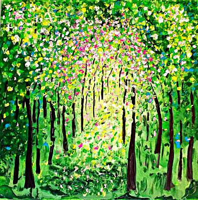 Painting - Forest Gifts by Shirley Smith