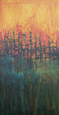 Wildfire Painting - Forest Glow #2 by Tonja Opperman