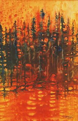 Forest Glow #3 Original by Tonja Opperman