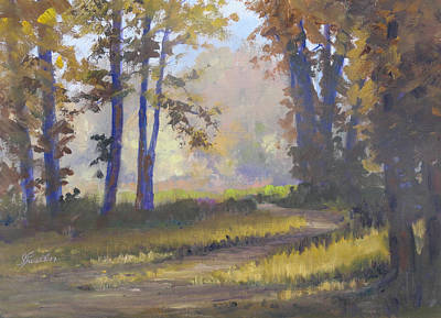Painting - Forest Glow by Judy Fischer Walton