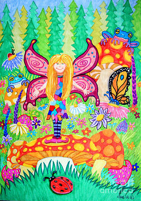 Strawberries Drawing - Forest Grove Fairy by Nick Gustafson