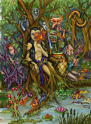 Gypsy Mixed Media - Forest Gypsy by Joanna M