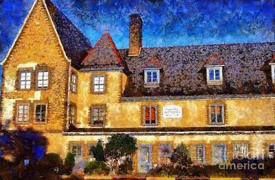 Photograph - Forest Hall Milford Pa - Twilight by Janine Riley