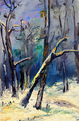 Painting - Forest In Winter by Daliana Pacuraru
