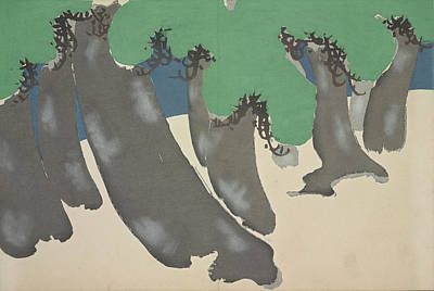 Nature Abstract Drawing - Forest., Kamisaka, Sekka, Artist, Date Issued 1909 by Artokoloro