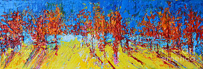 Painting - Tree Forest 2 Modern Impressionist Landscape Painting Palette Knife Work by Patricia Awapara