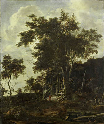 Shed Drawing - Forest Landscape With A Woodsmans Shed, Roelant Roghman by Litz Collection