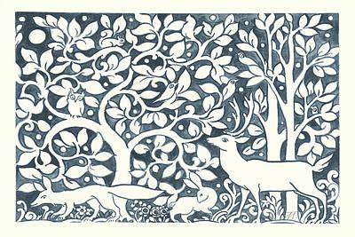 Chipmunks Wall Art - Painting - Forest Life Iv by Miranda Thomas