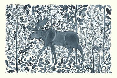 Chipmunks Wall Art - Painting - Forest Life Vi by Miranda Thomas