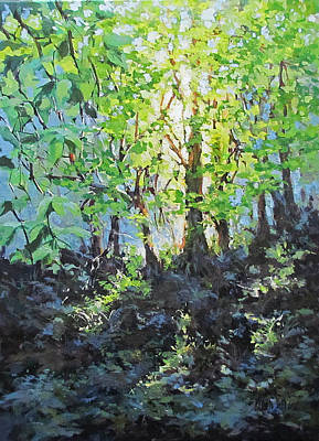 Painting - Forest Light by Karen Ilari