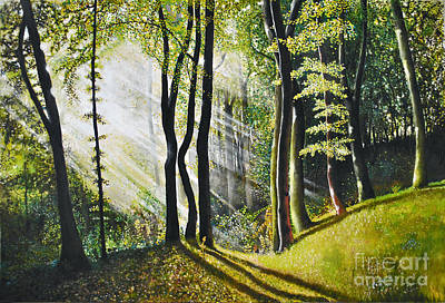 Art Print featuring the painting Forest Oil Painting by Maja Sokolowska