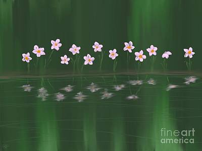 Painting - Forest Narcissus by Roxy Riou