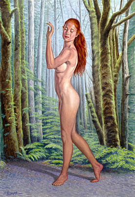 Figure Painting - Forest Nymph by Paul Krapf