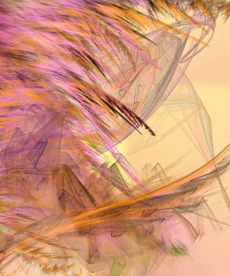 Abstract Digital Digital Art - Forest Of The Fairies by Camille Lopez