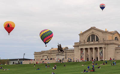 Photograph - Forest Park Balloon Race by Scott Rackers